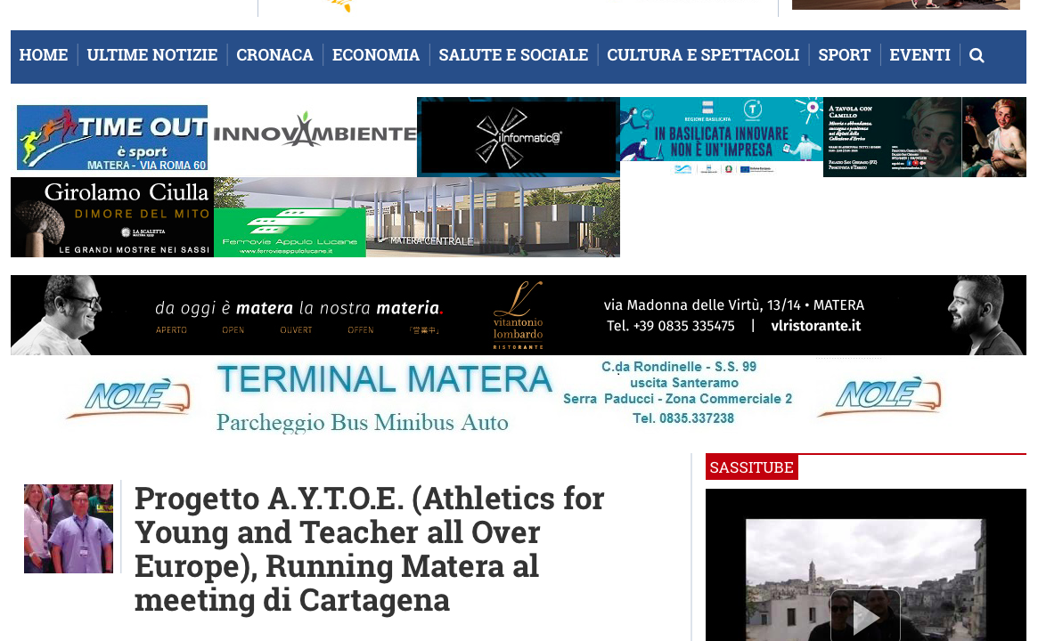 Progetto A.Y.T.O.E. (Athletics for Young and Teacher all Over Europe), Running Matera al meeting di Cartagena