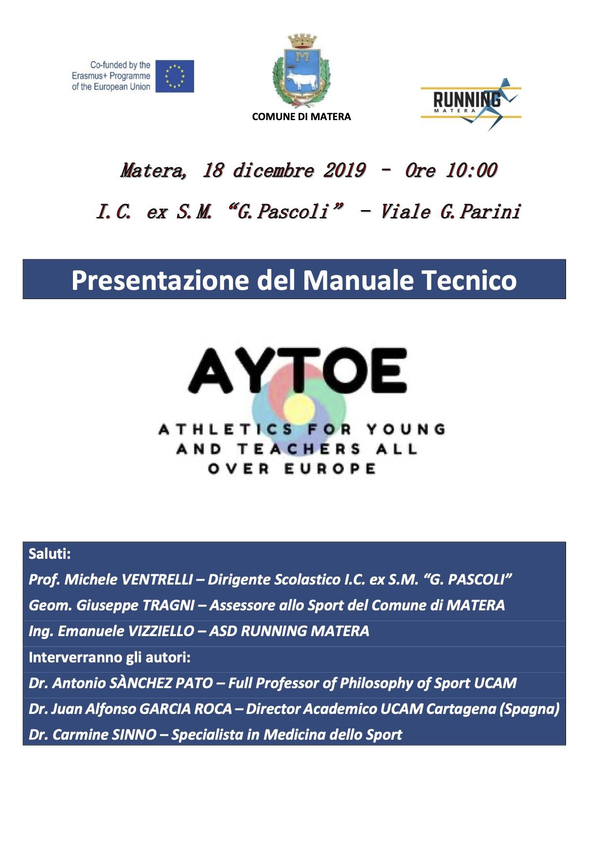 Presentazione del Manuale A.Y.T.O.E.