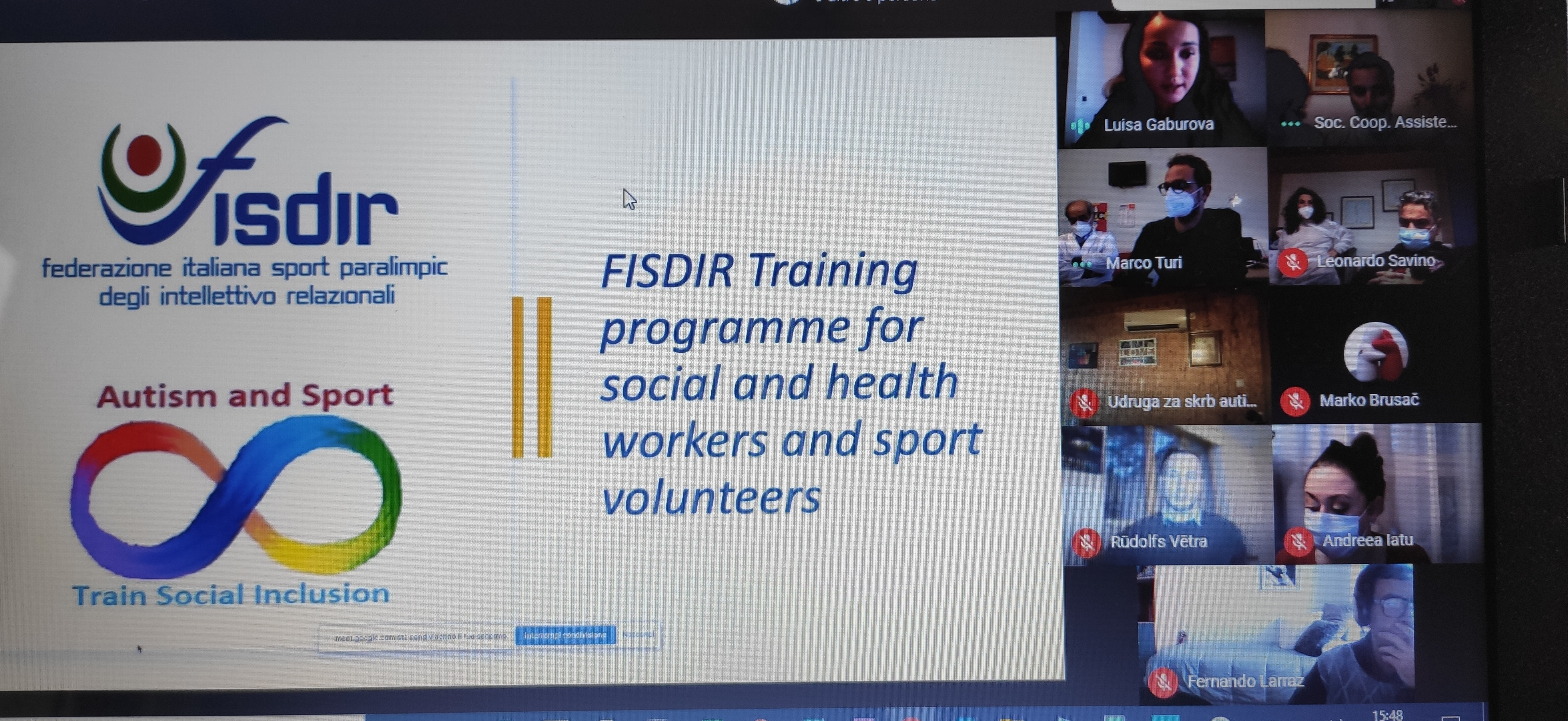 """Conference call """"Autism and sport: Train Social inclusion"""" project"""