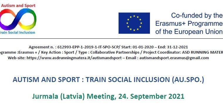 AU.SPO. – Transnational Meeting Jurmala (Latvia) 2021-09-24