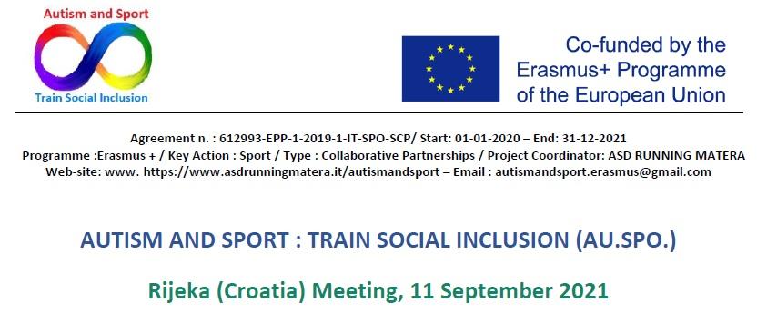 AU.SPO. – Transnational meeting – Rijeka (Croatia) 2021-09-11